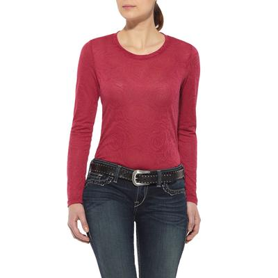 Ariat Womens Rose Jacquard Top