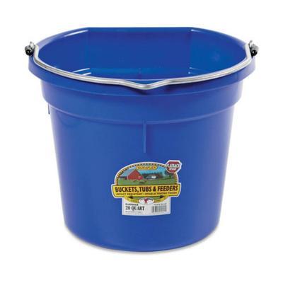 20 Qt DuraFlex Flat Back Plastic Bucket- Neon Colors BB