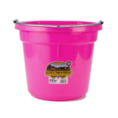 Miller Mfg. DuraFlex Flat Back 20 Qt. Bucket - Neon Colors HP