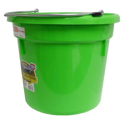 Miller Mfg. DuraFlex Flat Back 20 Qt. Bucket - Neon Colors LI