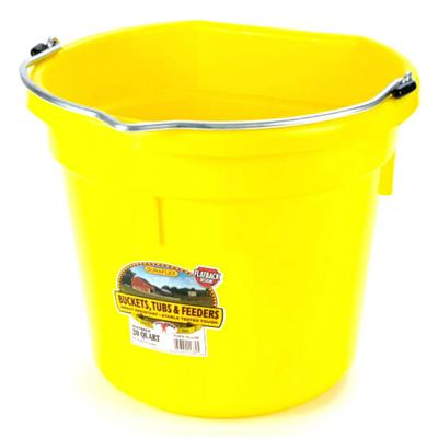 Miller Mfg. DuraFlex Flat Back 20 Qt. Bucket - Neon Colors YE