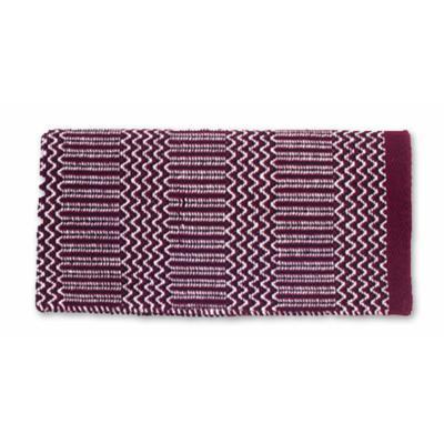 Mayatex Ramrod Double Weave Saddle Blanket BUR/BLK