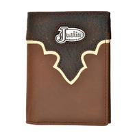 Justin Brown Mens Trifold Wallet