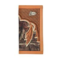 Justin Mens Camo Western Rodeo Wallet