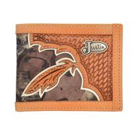 Justin Mens Camo Western Bifold Wallet