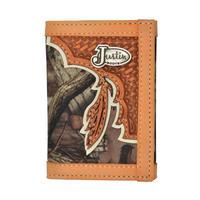 Justin Mens Camo Trifold Wallet
