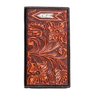 Ariat Tan + Black Rodeo Checkbook Style Wallet