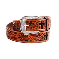 3D Belt  Co. Natural Mens Western Fashion Belt
