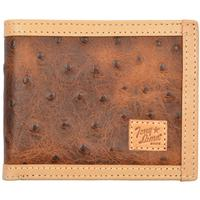 Tony Lama Brown Western Mens Bifold Wallet