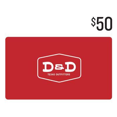 D&D $50 Gift Card