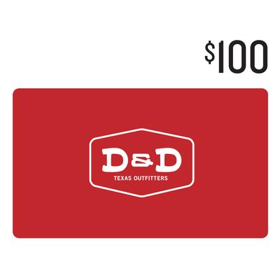 D&D $100 Gift Card