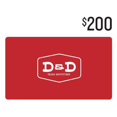 D&D $200 Gift Card