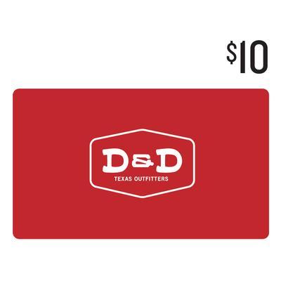 D&D $10 Gift Card