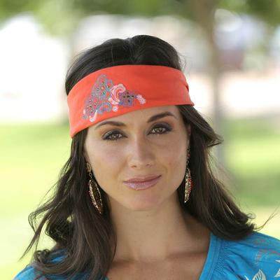 Cruel Girl Coral Headband Wih Floral Decal