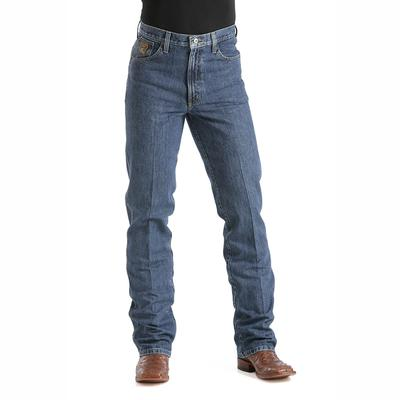 Cinch Mens Bronze Label Dark Stonewash Slim Fit Jeans