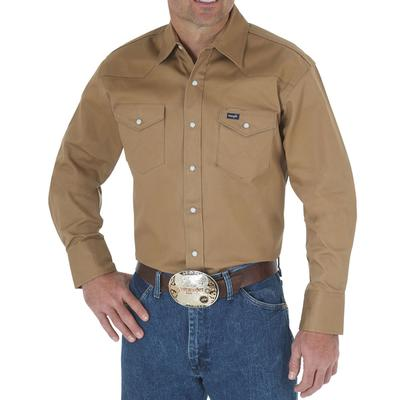 Wrangler Mens Authentic Cowboy Cut Work Shirt