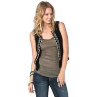 Miss Me Beaded Fringe Womens Vest