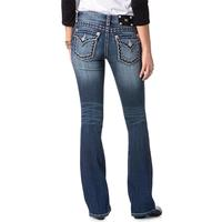 Miss Me Red & White Stitch Womens Boot Cut Jeans