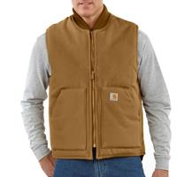 Carhartt Mens Duck Vest - Brown
