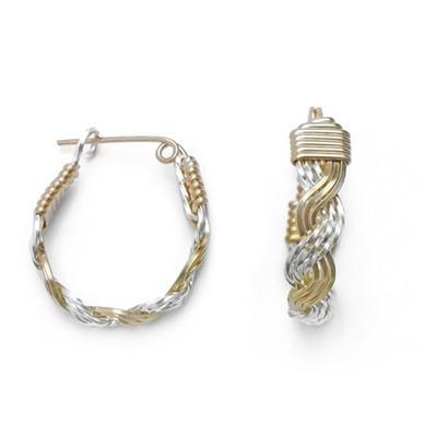 Ronaldo Love Knot Hoop Style Earrings