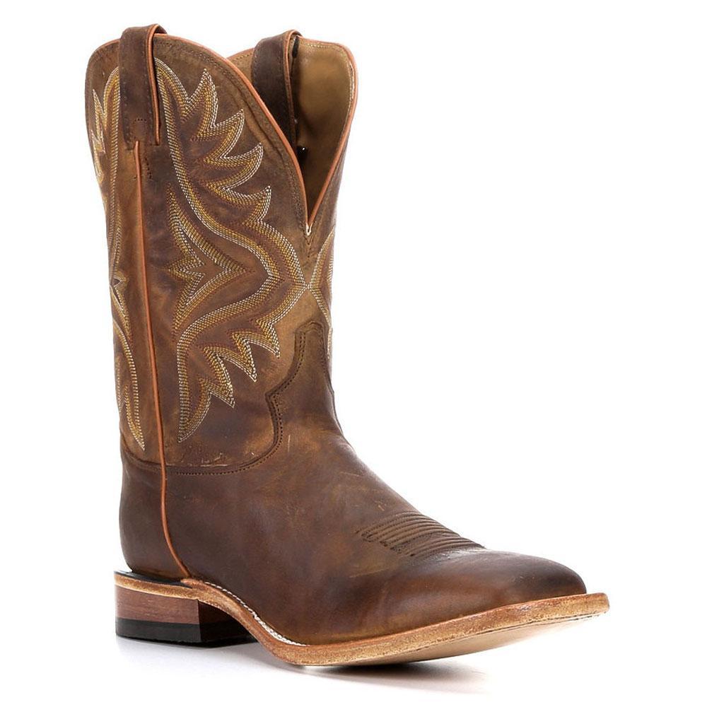 7ab68f1b377 Tony Lama Tan Worn Goat Cowboy Boots