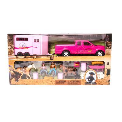 Bigtime Rodeo Truck, Trailer, Barrel Set