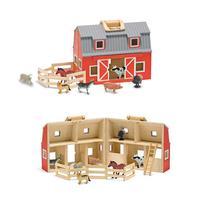 Fold and Go Barn Toy Set