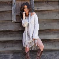 Union of Angels Fringed Hanovi Dress with Scarf
