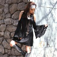 Union of Angels Black Bell Sleeve Ono Dress