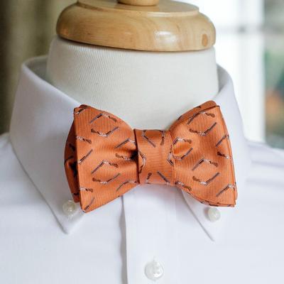 Over Under Breakdown Orange Bow Tie
