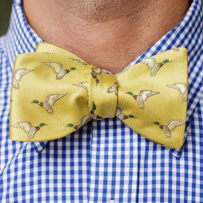 Over Under Fowler Yellow Bow Tie