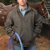 Cinch Tech Zip Twill Canvas Brown Jacket