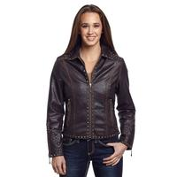 Cripple Creek Hand Laced & Studded Leather Jacket