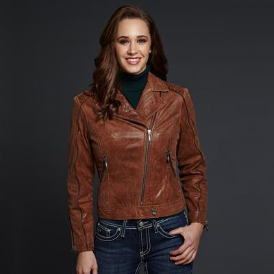 Cripple Creek Leather Jacket with Hand Laced Back Yoke