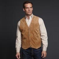Cripple Creek Tan Snap Front Leather Vest