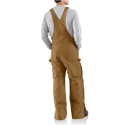 Carhartt Duck Zip- To- Thigh Quilt Lined Bib Overall