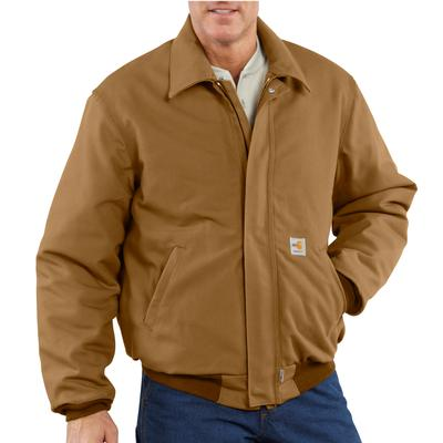 Carhartt Men's Flame- Resistant Duck Quilt Lined Bomber Jacket