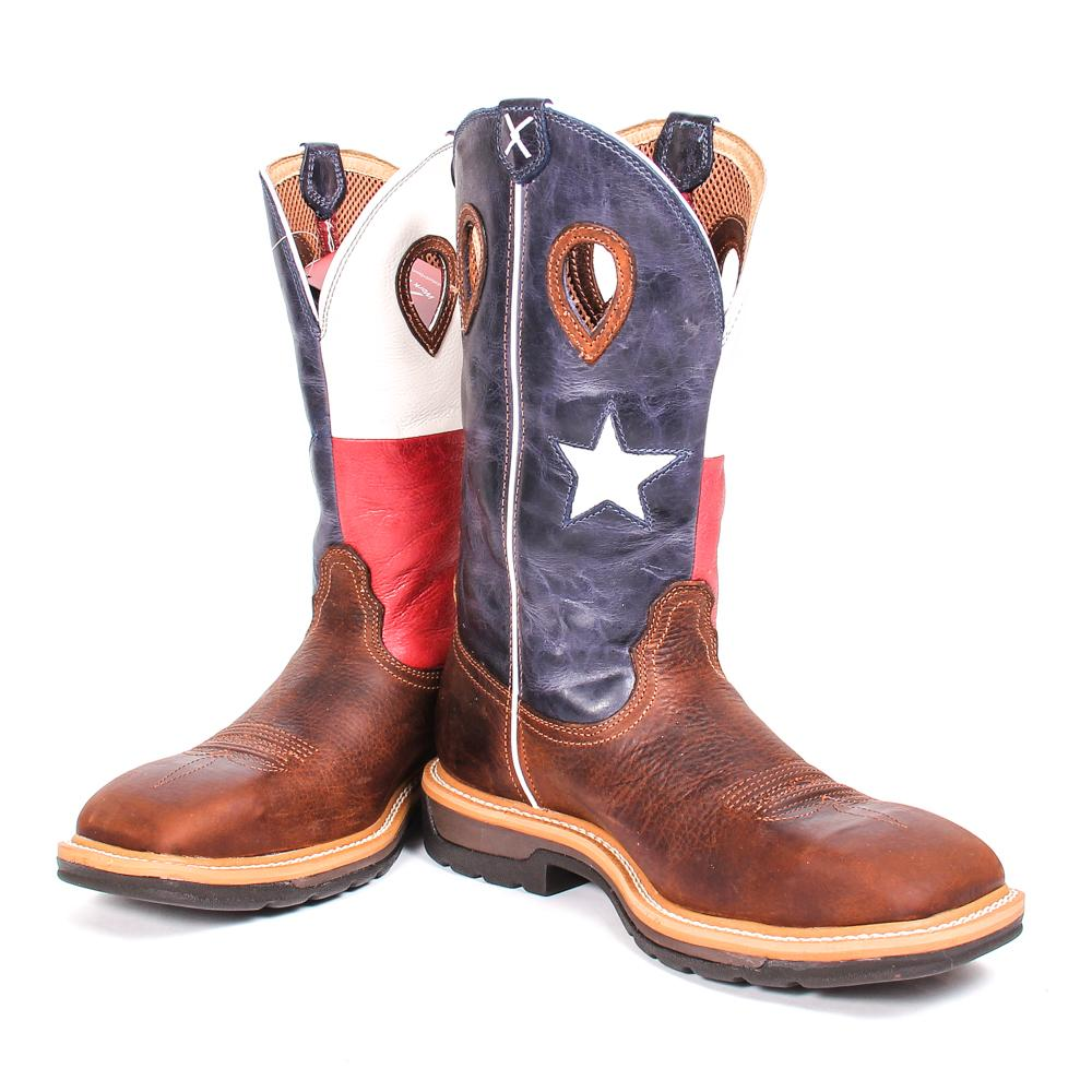 a4ad5f73eb1 Twisted X Mens Western Steel Toe Texas Flag