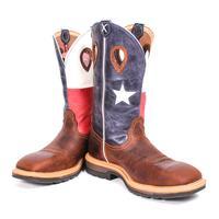 Twisted X Men's Western Steel Toe Texas Flag