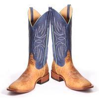 Horsepower Men's Blue Bison Bullfrog Boots