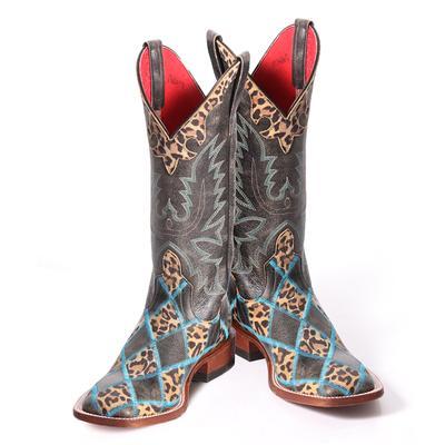 Anderson Bean Ladies Crack Leopard Boots