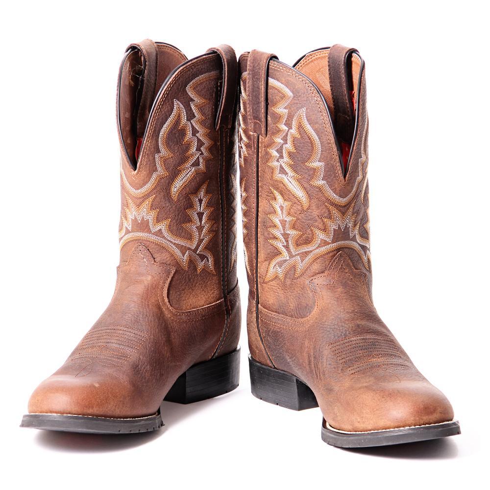 9fe86a7f137 Tony Lama Mens Pitstop Round Toe Cowboy Boot