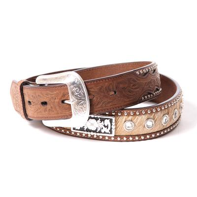 3d Men's Hair On Concho Belt