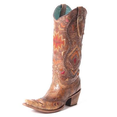 Corral Ladies Cognac Multicolor Ethnic Boot