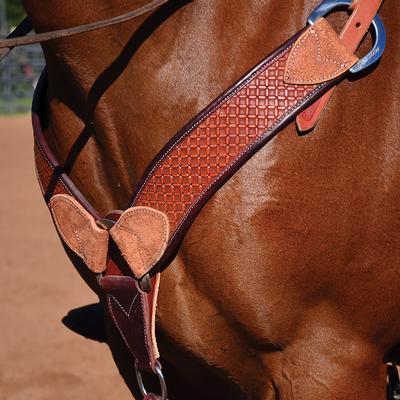 Martin Saddlery Waffle Stamp Breast Collar