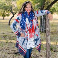 Tasha Polizzi Hooded Cowboy Blanket Cardigan