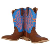 Twisted X Men's Hooey Blue and Orange Western Boot