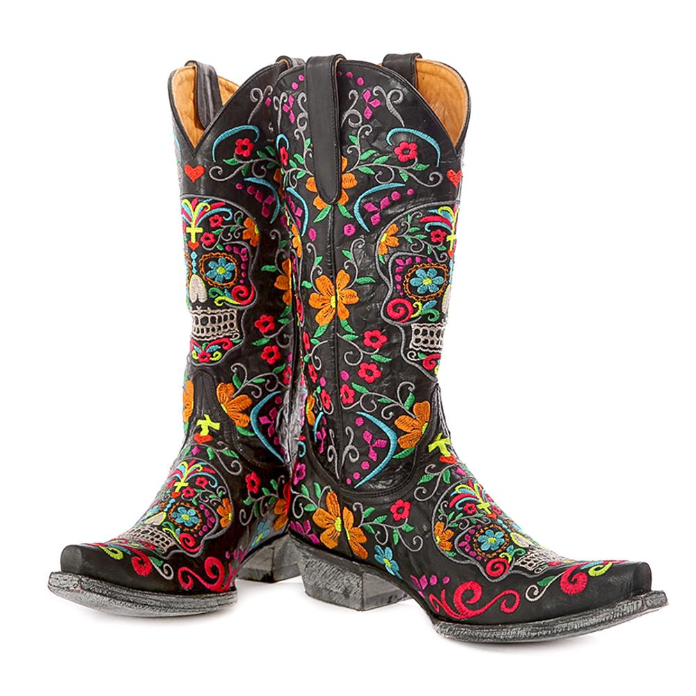 Old Gringo Ladies Klak Skull Snip Toe Boot | D&D