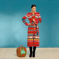 Roja Long Saltillo Stars Southwest Print  Sweater Coat