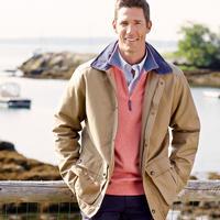 Vineyard Vines Men's Boatyard Coat in Tobacco